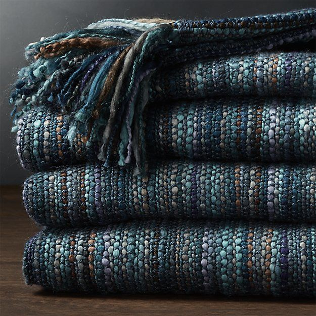 Shelby Blue Throw | Crate and Barrel