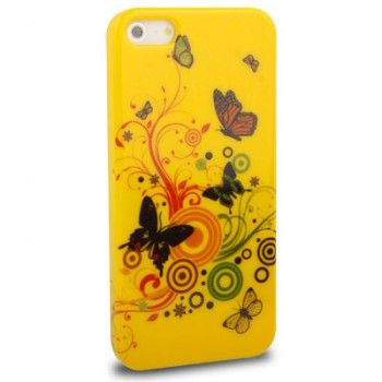 Yellow Butterfly Love Pattern iPhone Case