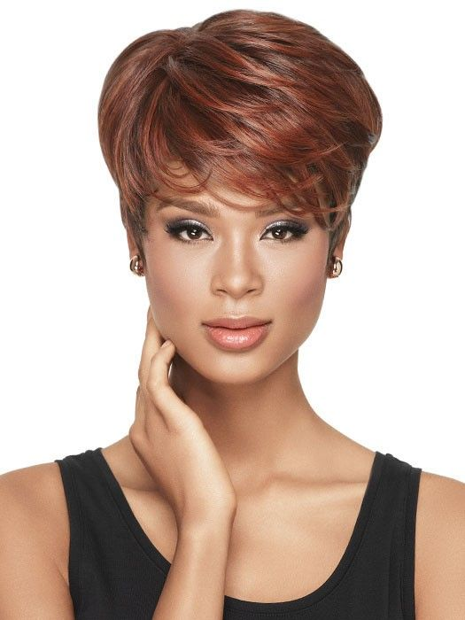 Tapered Tomboy - Red hair color on dark skin | www.olixe.com #redhair.