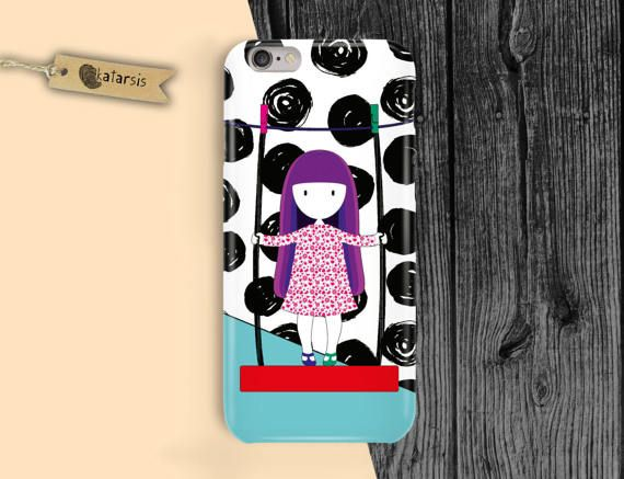 Little Girl iPhone 7 Case iPhone 6 Case iPhone by KatarsisFactory