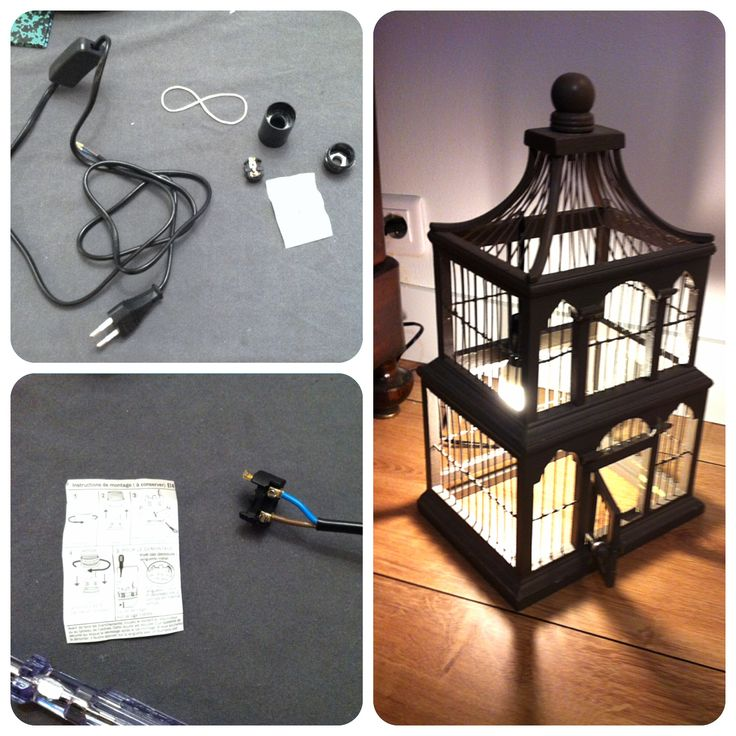 cage oiseaux luminaire 1 4 diy pinterest. Black Bedroom Furniture Sets. Home Design Ideas