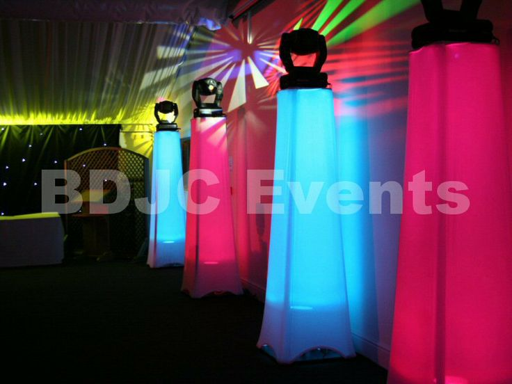 Transform large areas with high end moving head lighting