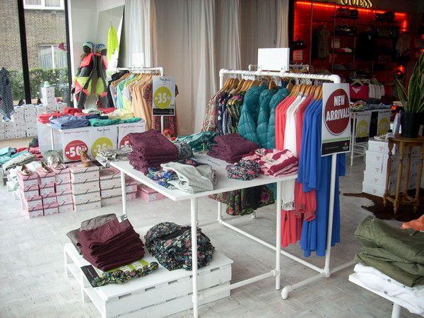 Industrial Style Retail Clothing Racks