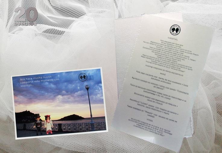 Nota de agradecimiento y minuta/  Thank you note and menu