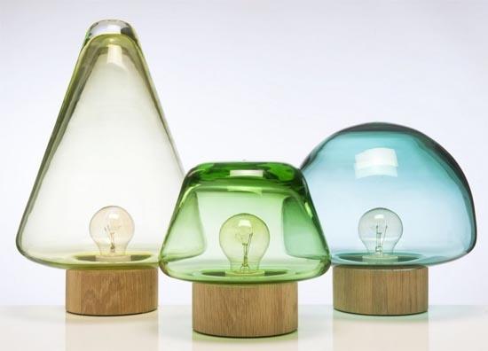 Forest lamp by Caroline Olsson