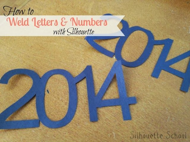 Silhouette: How to weld (joining letters and numbers)