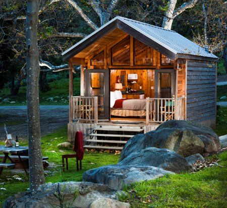 A Tiny One Bedroom Log Cabin Escape Spot Along The River!