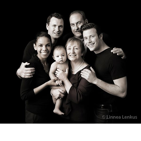 Family Portrait Ideas Black Background