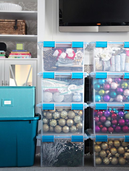 IHeart Organizing: Holiday Decor Storage & Organization Tips.  Some very great ideas!  Finally something makes sense to me.