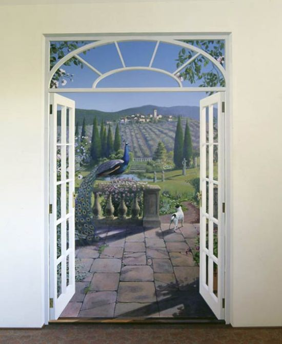 74 best images about trompe l 39 oeil 3d murals on for Door wall mural