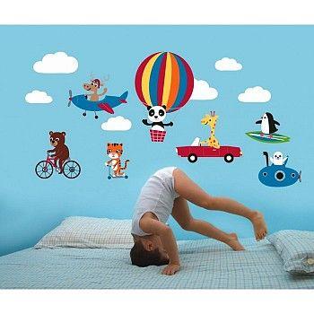Kidsdecoshop | Forwalls | Muursticker Dieren en Voertuigen | Webshop kinderkamer decoratie