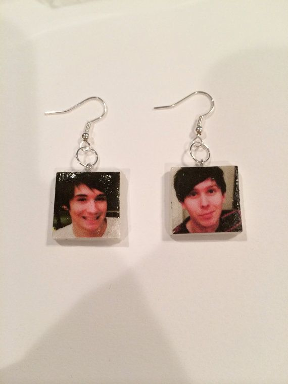 dan and phil phan earrings by alexthegirlofcrafts on etsy