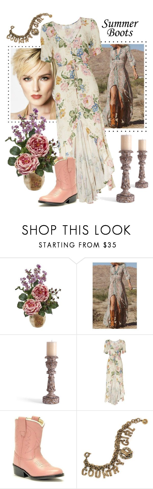 """Country Girl"" by andrea-kaye-nowak ❤ liked on Polyvore featuring Nearly Natural, Bliss Studio, Old West, Sweet Romance and country"
