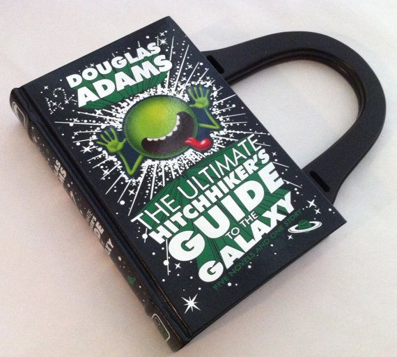 Found an Etsy store turning books into purses! Ultimate Hitchhiker's Guide to the Galaxy Book by NovelCreations