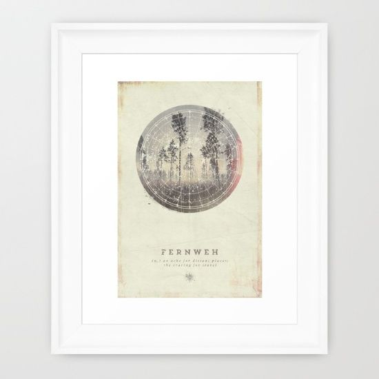 Buy Fernweh Vol 4 Framed Art Print by HappyMelvin. Worldwide shipping available at Society6.com. Just one of millions of high quality products available.