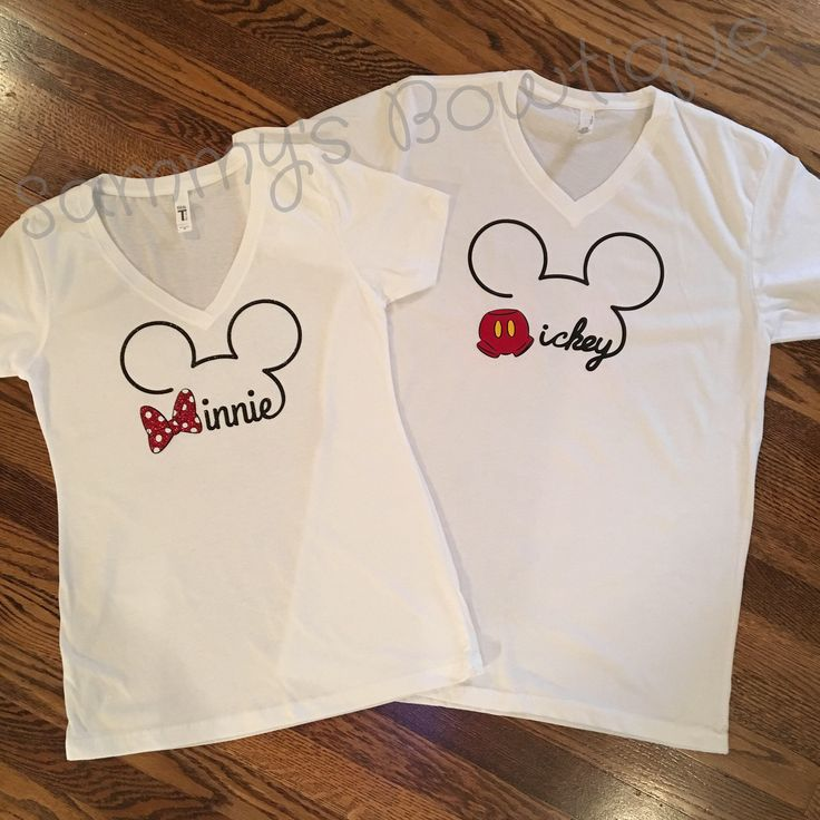 Disney Couple shirts! Minnie and Mickey couples shirts, disney couples shirts, disney family shirts. by sammybowtique on Etsy https://www.etsy.com/listing/555357272/disney-couple-shirts-minnie-and-mickey