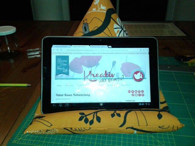 Tablet Kissen nach einer Anleitung von kreativoderprimitiv.blogspot. de