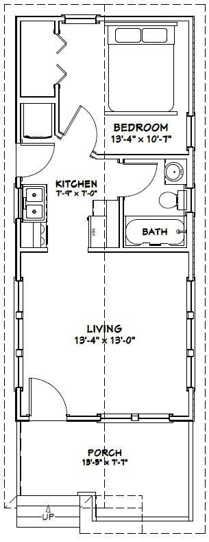 14x32 Tiny House 14x32h1r 447 Sq Ft Excellent