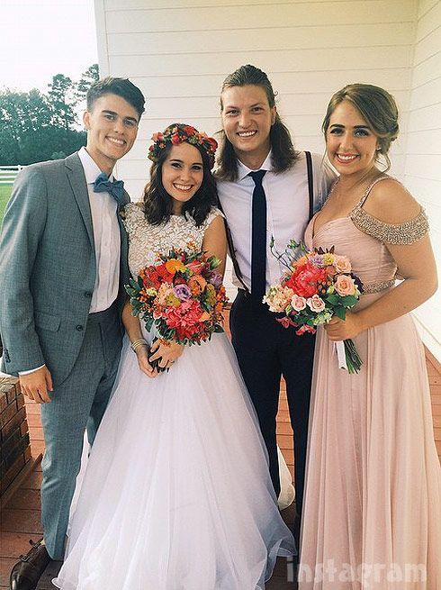 John Luke Robertson married Mary Kate McEacharn wedding dress photo love this bridesmaid dress!