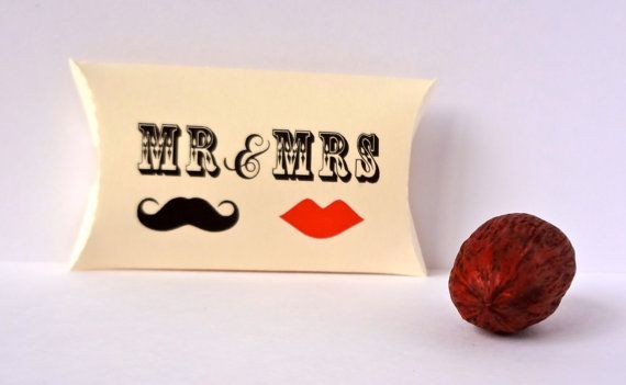 10 Pillow favor Boxes / mr and mrs favor boxes / by ThePaperBazaar, $11.21