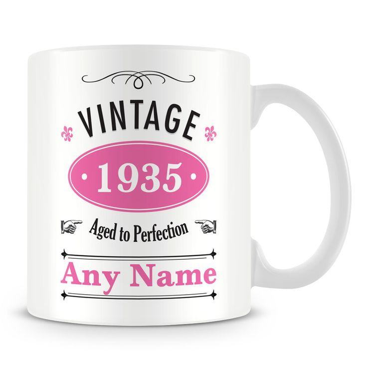 New mug released today: Vintage 1935 Birthday Mug - Age 81. See it here http://www.muggz.co.uk/products/vintage-personalised-mug-81