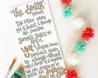 The South Quote - Southern Sign - Born in the South - Southern Quote Canvas - Southern Decor - Farmhouse Style - Southern Life - South Sign