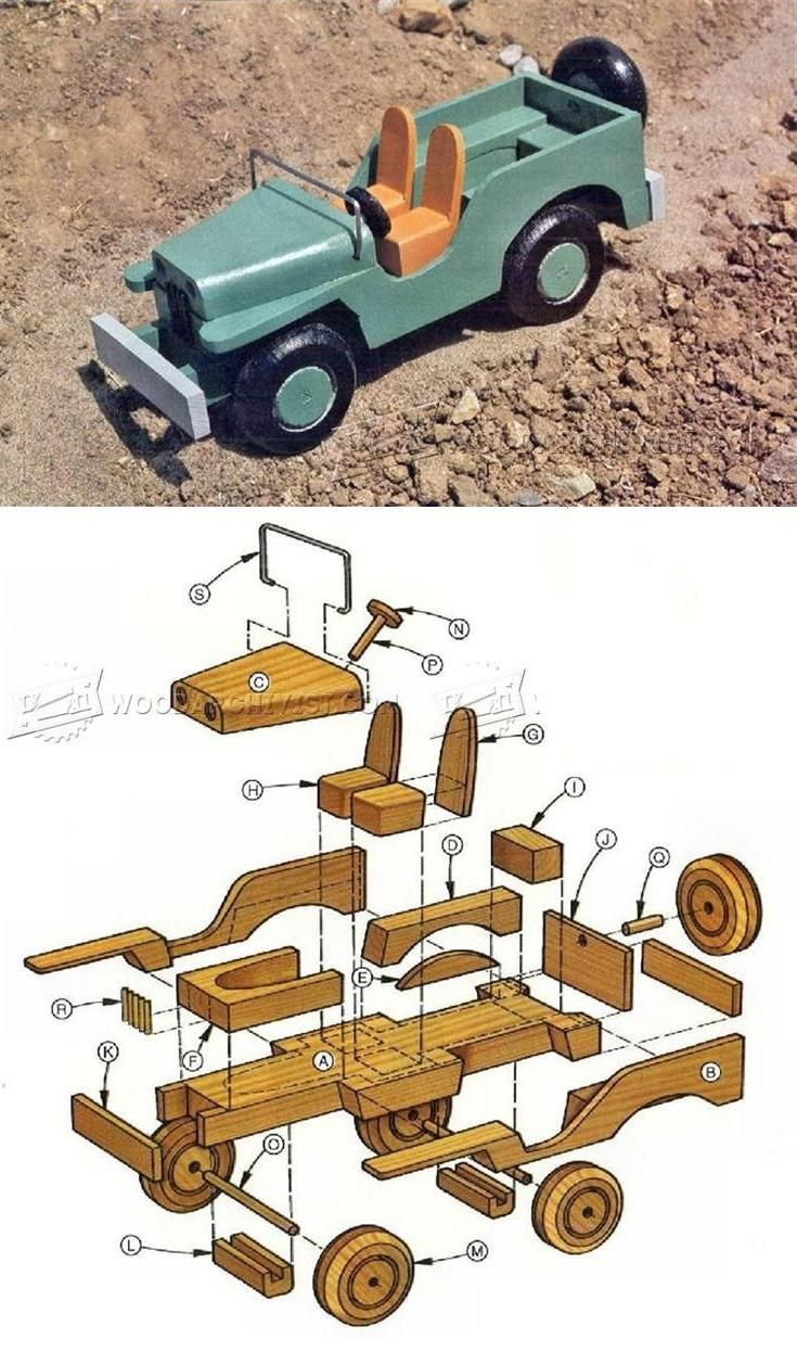 Wooden Toy Jeep Plans - Wooden Toy Plans and Projects   WoodArchivist.com