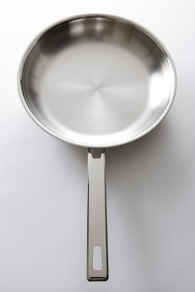 How To Remove A Stain In An Overheated Stainless Steel Pan Hunker Stainless Steel Pans Stainless Steel Cookware Smart Cooking