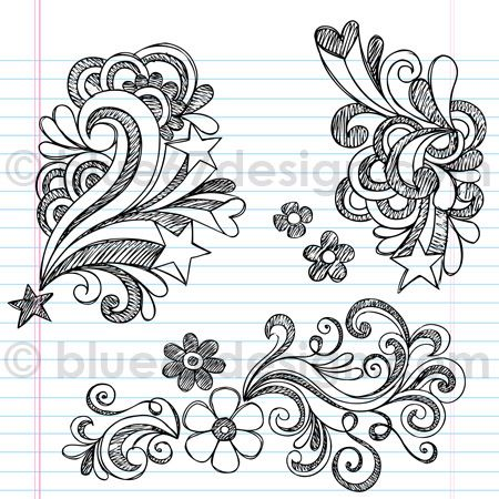 Swirly Back to School Sketchy Notebook Doodles Illustration by blue67design | Flickr - Photo Sharing!