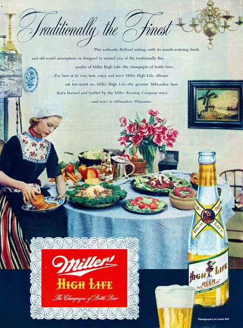 Miller High Life Beer ad, 1951.