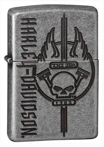 Zippo Harley Davidson Antique Silver Lighter