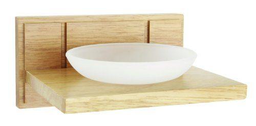 Accesorio para baño - Jabonera con soporte de madera - http://tienda.casuarios.com/croydex-maine-jabonera-con-soporte-de-madera-color-natural/