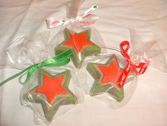 Star Soaps Christmas Soaps Stocking Stuffers by wildfloweravenue, $2.50