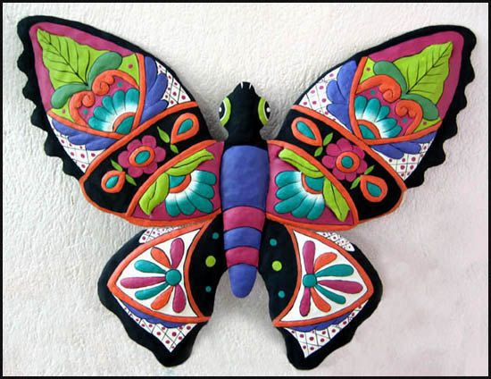 Butterfly Wall Decor Metal Wall Art 24 Painted por TropicAccents