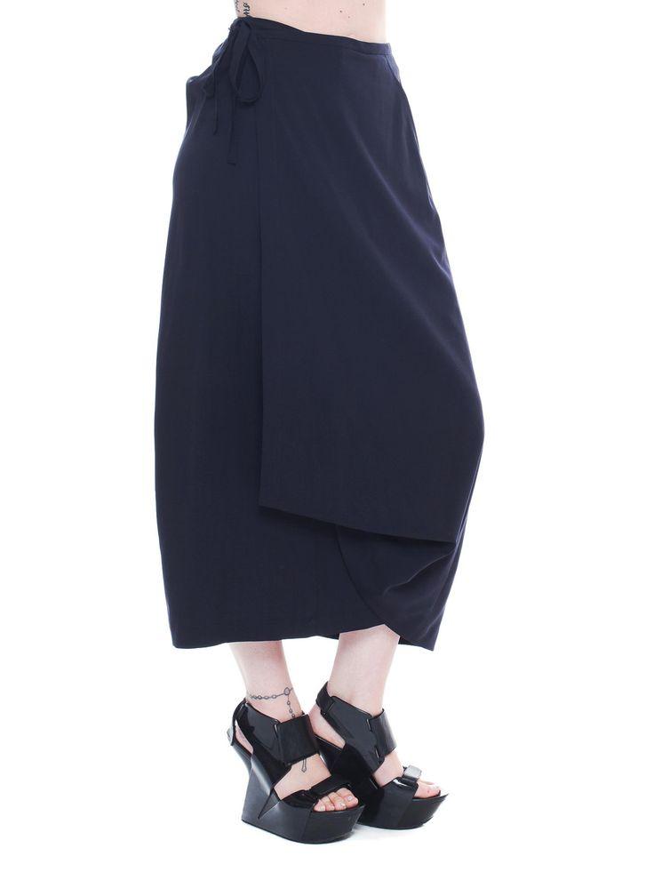 Vintage Comme Des Garcons Long Black Wrap Skirt