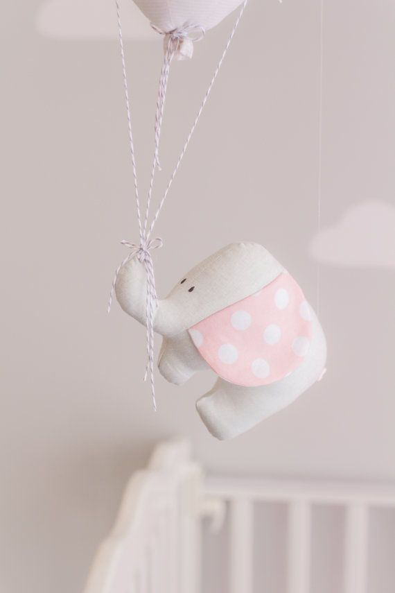 Hey, I found this really awesome Etsy listing at https://www.etsy.com/listing/210984738/elephant-and-balloon-baby-mobile-pink