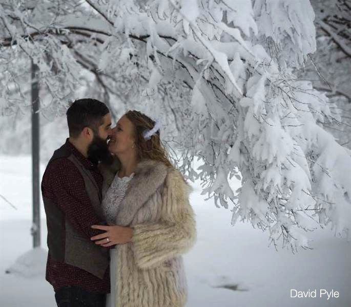 Best Winter Weddings Images On Pinterest Sparkle Decoration - Couple let their dog film their snowy wedding day and the result was magical