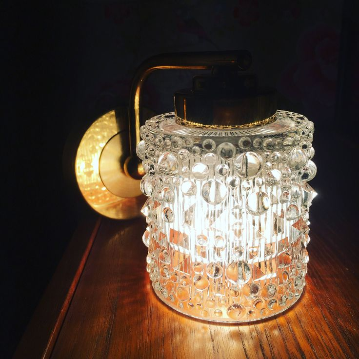 Pair of Swedish/midcentury/wall sconces/crystal/brass/1960s/midmod/excellent condition/made in Sweden by WifinpoofVintage on Etsy