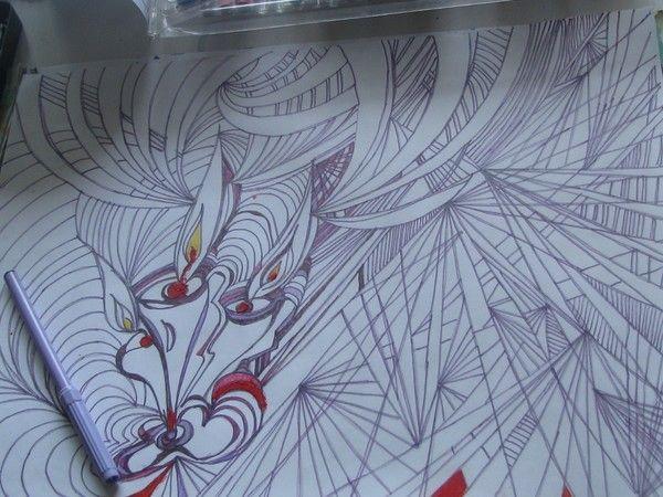 A3 ink drawing by heli ©2010 by Heli Aarniranta on ARTwanted