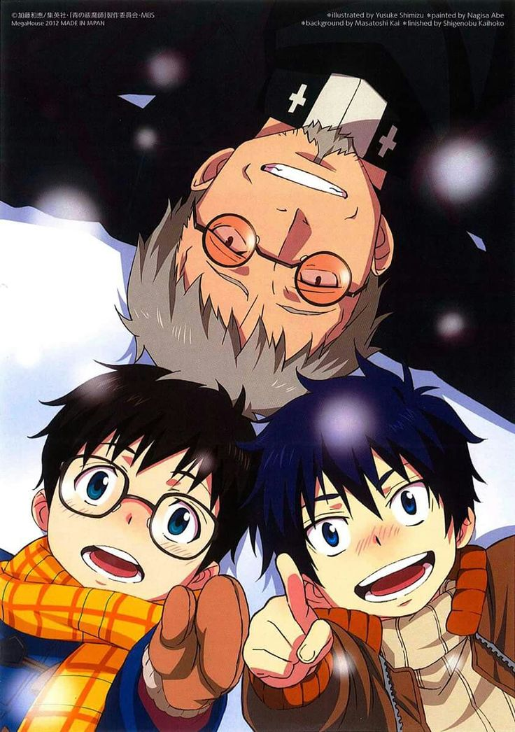 Blue Exorcist || Shiro Fujimoto, Rin & Yukio #anime