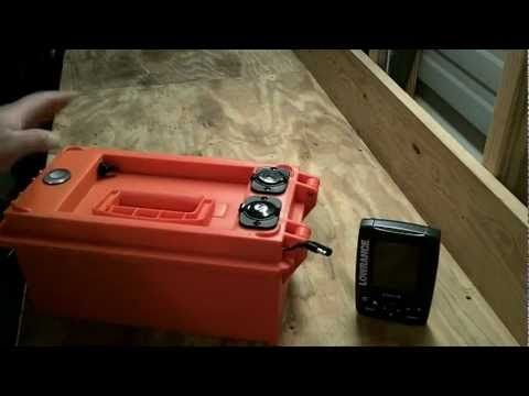 Here's another project for my list! Kayak Fish Finder-12volt Portable Power Box-How To Build - YouTube