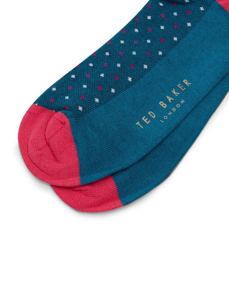 Dotted socks - Turquoise | Socks | Ted Baker UK