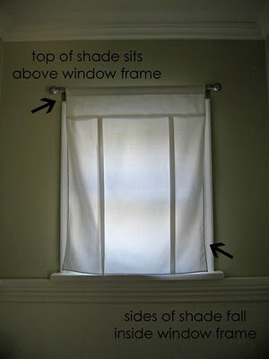 Super cute and easy tie up roman shades... Definitely doing this for my bathroom window :-)
