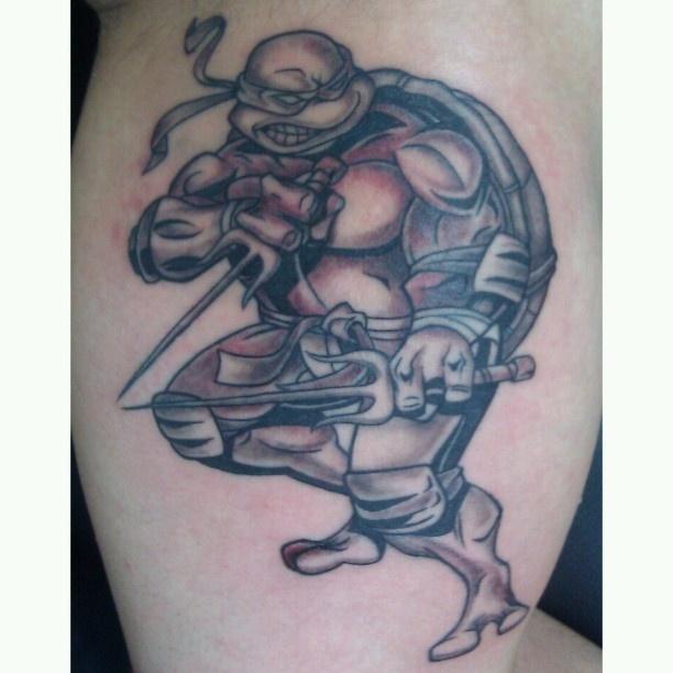 Teenage mutant ninja turtle tattoo raphael mobile ink for Tattoo school edmonton