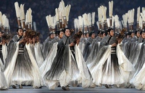 one of the creative directors on 2008 Beijing Olympic opening ceremonies, responds all costumes design.