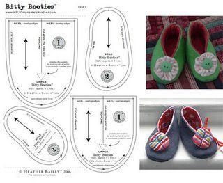 Hurby Artes: Sapatinhos de feltro moldes