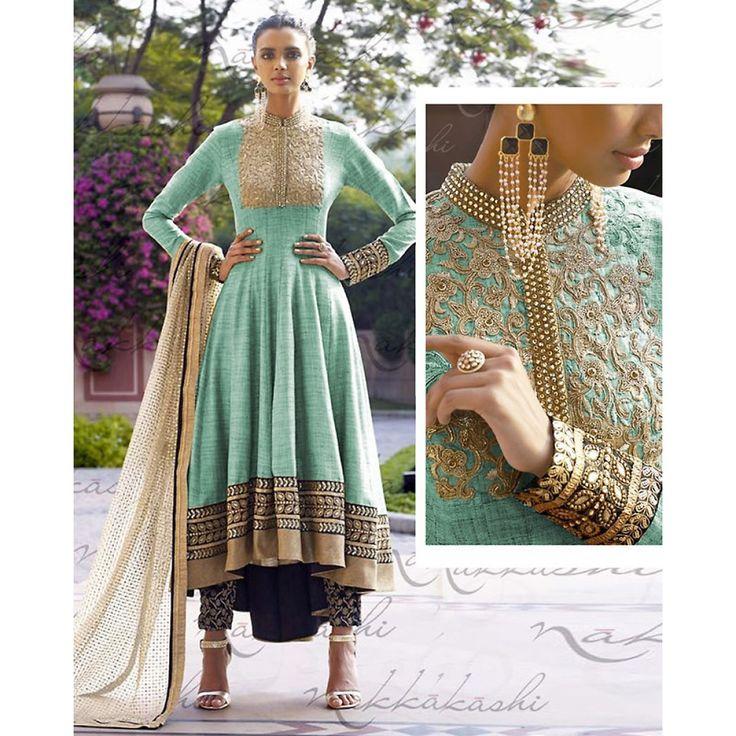 Turquoise Color Anarkali Suit