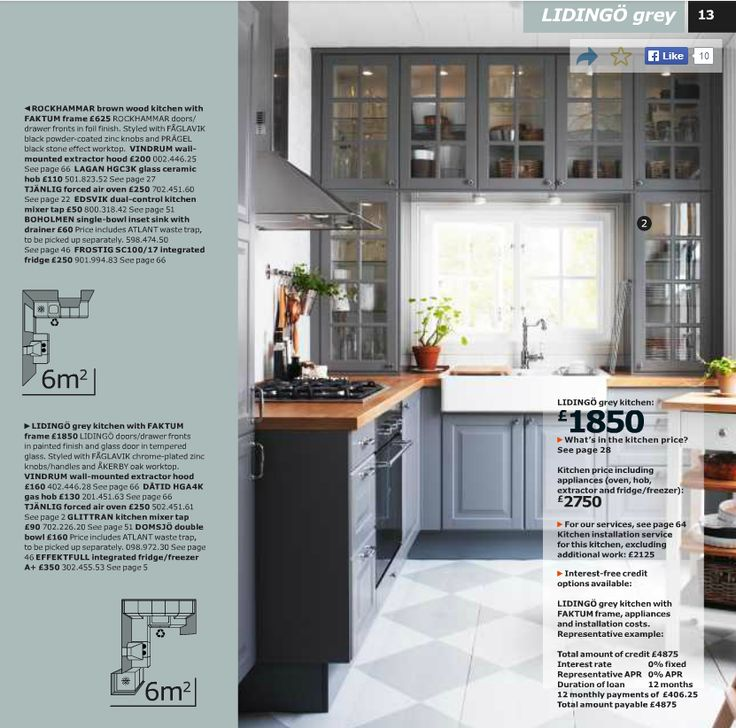 Lidingo Grey Kitchen Style | IKEA Kitchens | Pinterest