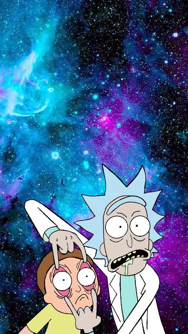 Rick and morty wallpaper #wallpaper #rickandmorty #galaxy #wubbalubbadubdub #fondos #iphone