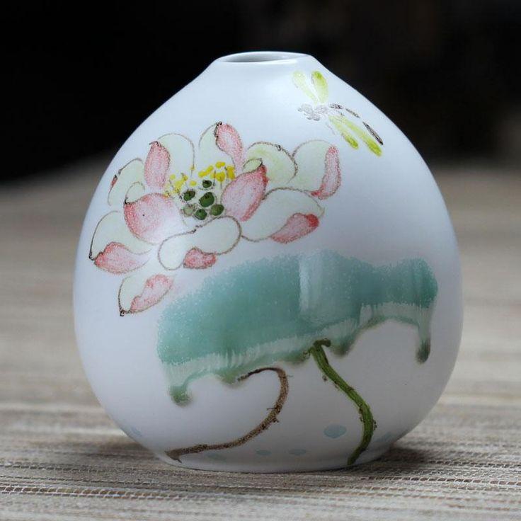 dehua фарфора небольшой мини-Вазы керамические руку расписные фарфоровые украшения современной моды